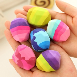 Kawaii kolorowe kamień kształt gumka gęsi miękkie gumowe gumki nieregularny kształt Rock Big pióro gumka materiały piśmienne dla