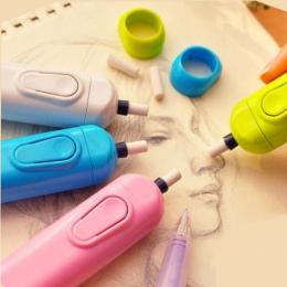 1 sztuk silnik elektryczny gumka automatyczne przybory szkolne materiały biurowe dzień dziecka prezent materiał Escolar szkic ma