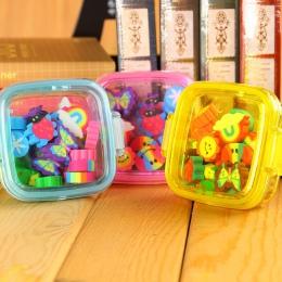 20 sztuk/zestaw Kawaii śliczne gumka do mazania prezent dla dzieci szkolne materiały biurowe borracha materiał escolar utiles es