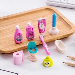 4 sztuk/partia łazienka zestaw gumka szkolne biuro gumka do mazania specjalne malowanie klasyczne stare marki eraserGive swoje d