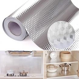 """Aluminiowa folia kuchnia naklejki Maison naklejka dekoracyjna samoprzylepna tapeta wodoodporna do mebli 16 """"x 39.5"""""""