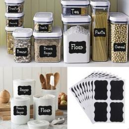 NAI YUE 36 sztuk fantazyjny czarna płyta kuchnia dżem Jar etykiety etykiety naklejki. 5 cm x 3.5 cm wystrój tablica