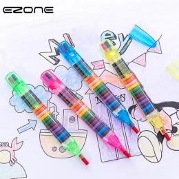 EZONE 1 sztuk kolorowe 20 kolory olej marker z farbą Cratons z dyszlem ołówki pióro do rysowania sztuka malarstwo prezent dla dz