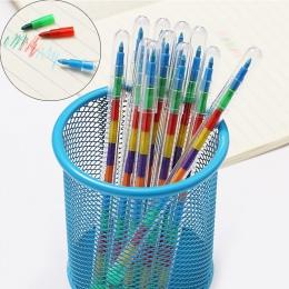 10 kolorów/sztuk DIY wymienne kredki olej pastelowe kreatywne kolorowe ołówek Graffiti Pen dla dzieci malowanie rysunek śliczne