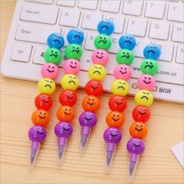 7 kolorów kredki kredka kreatywny Cartoon, pokrytych cukrem uśmiech ołówek ołówek prezentuje dzieci w wieku 7 biuro obraz kolor