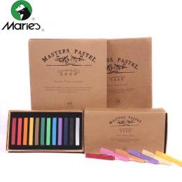 Marie kredki do malowania miękkiej, suchej pastelowe 12/24/36/48 kolory/zestaw Art zestaw do rysowania kreda kolor kredka pędzel