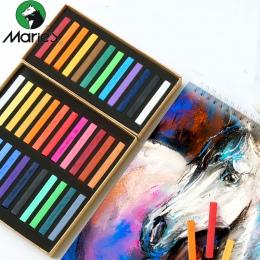 Marie kredki do malowania miękkie pastelowe 12/24/36/48 kolory/zestaw Art zestaw do rysowania kolor kredy kredka pędzel artykuły