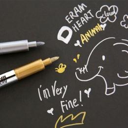 Nowy kreatywny piśmienne Metal kolor craft pen złoty i srebrny marker z farbą 1.5mm kredki pióra