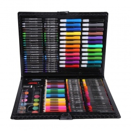 Nowy 168 sztuk rysunek ołówki kredki dla dzieci kolorowe kredki akwarela markery Art zestaw do rysowania malowanie dostaw prezen