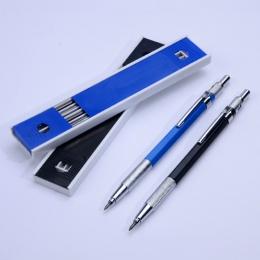 Metalowe ołówki mechaniczne 2.0mm 2B realizacji uchwyt na ołówek do szkicowania zestaw z 12 sztuk prowadzi pisania szkolne preze