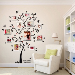 100*120 Cm/40 * 48in 3D DIY wymienny zdjęcie drzewo naklejki ścienne pcv/klej naklejki ścienne Mural ozdoby do dekoracji wnętrz