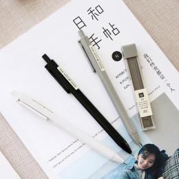 JIANWU 3 sztuk 0.7mm 0.5mm proste mody automatyczny ołówek uczeń typ prasy ołówek mechaniczny materiały studenckie