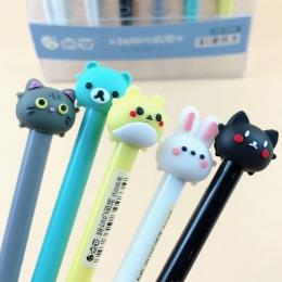 1 PC 0.5/0.7mm śliczne Kawaii królik kot mechaniczny ołówek Cartoon zwierząt automatyczne długopisy dla dzieci koreański biurowe