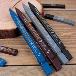 Nowy uczeń 2B uchwyt na egzamin mechaniczny ołówek z 6 sztuk ołowiu wkłady zestaw materiały biurowe