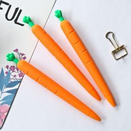 Marchew ołówki mechaniczne 0.5mm silikonowy Kawaii automatyczne ołówki dla dzieci dziewczyny prezenty śliczne koreański biurowe