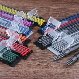 Gruby rdzeń ołówka kolorowy automatyczny rysunek 2mm rdzeń śliczne mechaniczne ołówek realizacji kolor mechanik ołówek automatyc
