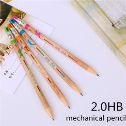 1 PC ołówek mechaniczny 2.0mm realizacji wkład może dodać ołówek wkłady automatyczny ołówek 4 kolory losowe
