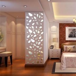 12 sztuk 3D lustro zdejmowane naklejki ścienne do salonu tło pod telewizor lustro Mural kalkomania ścienna Modern Art dekoracje