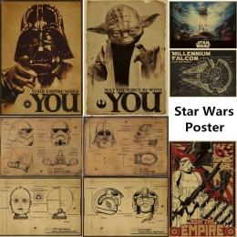 Mieszane zamówienie w stylu Vintage klasyczny film Star Wars Darth Vader ewangelii według łukasza Jedi plakat Cafe Bar Home Deco