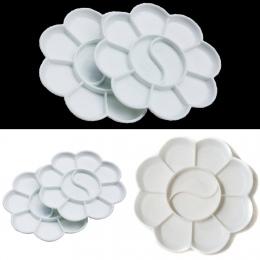 Kwiat kształt plastikowe paleta malarska artysta akwarela gwasz paleta artykuły szkolne do plastyki piśmienne Art paleta 1 pc