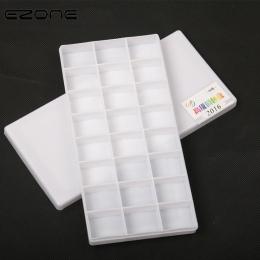 EZONE 24 siatki paleta kolorów dla akwarela gwasz malarstwo akrylowe palety z tworzyw sztucznych farby i obejmuje Kid Art szkoły