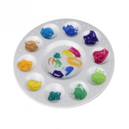 Hinmay 10 Wells Design paleta z tworzywa sztucznego sztuki farby z tworzywa sztucznego taca do rysowania paleta kolorów dla olej