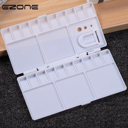 EZONE 25 siatek paleta puste pole akwarela farby puszki z pełnych patelni pół patelnie dla sztuki gwasz akrylowe akcesoria do ma