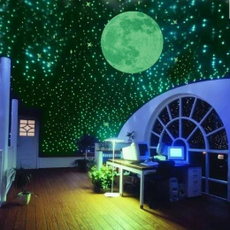 100 sztuka/paczka noc luminous gwiazdki fluorescencyjne 3D naklejki ścienne dla dzieci naklejki do sypialni blask w ciemności gw
