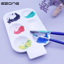 EZONE 6 siatki Paletter do malowania akwareli cukierki kolor koło Paletters oleju gwasz akrylowe taca do rysowania palet dostaw