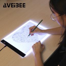 Oryginalny cyfrowy tabletki A4 LED graficzny artysta cienkie Art wzornik rysunek podświetlana tablica śledzenia tabeli Pad trzy