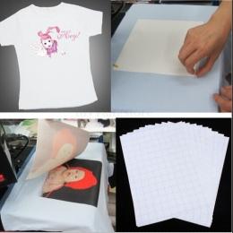 2018 gorąca sprzedaż 10 sztuk arkuszy T-Shirt A4 papier przenikania ciepła żelazo na atramentowy papier przenikania ciepła dla k