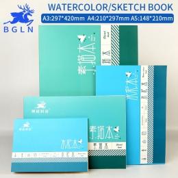 Bgln 1 szt profesjonalny papier akwarela ręcznie malowane rozpuszczalne w wodzie książki kreatywne biuro do szkoły akcesoria pap