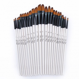 12 sztuk nylonowe włosy drewniane uchwyt akwarela zestaw pędzelków do nauki Diy oleju akrylowe malowanie Art pędzle materiały