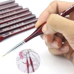 1 sztuka pędzel miniaturowe szczegóły Fineliner do paznokci pędzle do rysowania wilk pół pędzle do malowania akrylowego