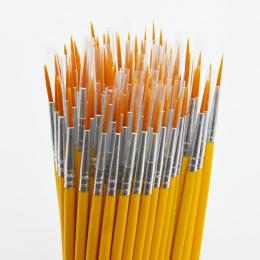 10 sztuk/zestaw długi ogon nylonhair hak linii pióro malowanie pędzlem dzieci DIY art supplies narzędzie Art piśmienne akwarela