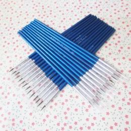 10 sztuk/zestaw grzywny ręcznie malowane cienki hak linii pióro niebieski Baton do rysowania artystycznego pióro farby akcesoria