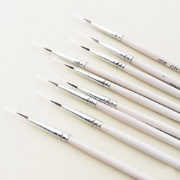 6 sztuk/zestaw grzywny ręcznie malowane cienki hak linii pióro do rysowania artystycznego Pen #0 #00 #000 farby akcesoria do mal