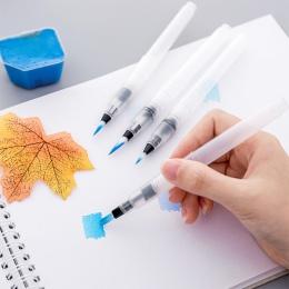 4 sztuk/zestaw studenci pędzel pędzel do akwareli ołówek miękkie pędzle do akwareli długopis dla początkujących malowanie do rys