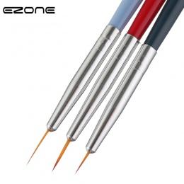 EZONE 3 sztuk farby szczotka do drewna Handel Nylon włosy różnej wielkości włosów linii hak długopis do akwarela gwasz oleju mal