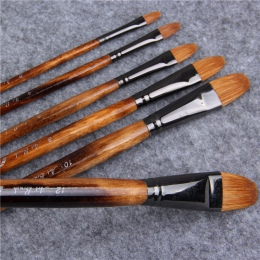 6 sztuk/zestaw Paintibrush farby olejne łasica włosów akwarele szczotka akryl rysunek akcesoria do malowania pędzel pędzle do ma