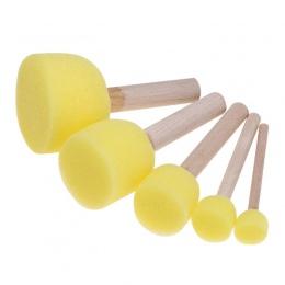 5 sztuk/zestaw gąbka szczotka zabawki drewniane uchwyt Seal gąbki szczotki dzieci dzieci rysunek malowanie Graffiti narzędzia sz
