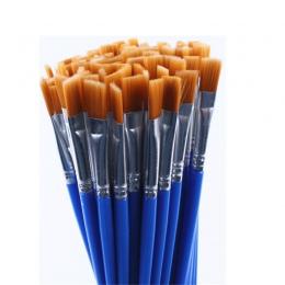 20 sztuk tego samego rozmiaru, drobne, nylonowe włosy pędzle do malowania do rysowania akwarela szczotki pędzle do malowania dłu
