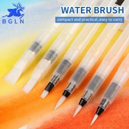 BGLN 3/6 szt duża pojemność beczka wody Paint Brush Set inny kształt miękkie kaligrafia malowanie pędzlem pióro do rysowania szt