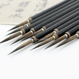 3 sztuk/zestaw miedzi haczyk wędkarski linia grzywny pędzel pędzel do chińskiej kaligrafii pędzel Art stacjonarne obraz olejny p