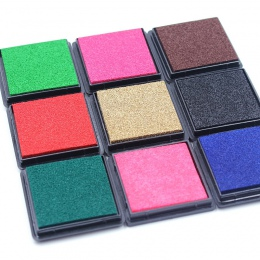 Różne opcjonalne 4 cm odcisk atramentowy Scrapbooking kolorowe Inkpad pieczęć pieczęć dekoracji odcisków palców wzornik karty Ma