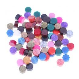 100 sztuk/partia Retro Octagon tłoczenia lak koraliki pieczęć woskowa znaczki do koperta dokumenty zaproszenie na ślub dekoracyj