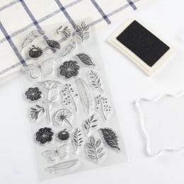 W stylu vintage motyl kwiat przezroczysty silikon przezroczysty pieczęć do scrapbooking wyroby dekoracyjne DIY miękka pieczątka