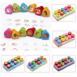 Okrągły Multicolor zabawy 10 sztuk śliczne Panda dziecko notatnik diy dzieci znaczek kreskówka gumka znaczki Scrapbooking nagrod