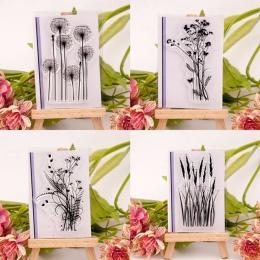 Nowe mody silikonowe Variou kwiat i trawa przezroczysty przezroczysty arkusz pieczęć przybory Photo Album Scrapbooking karta pap