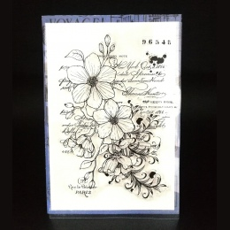 Kwiat przezroczysty przezroczysty pieczęć silikonowa/uszczelnienie do DIY scrapbooking/album fotograficzny dekoracyjne jasne pie